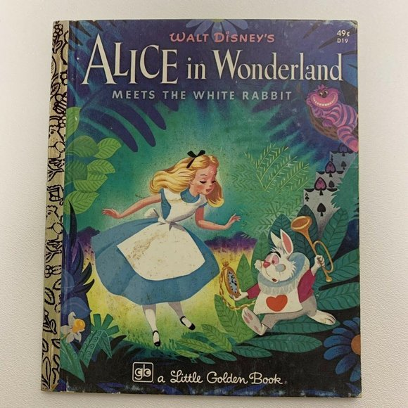 Vintage Little Golden Book Alice In Wonderland